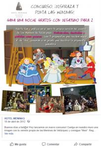 Concurso Hotel en facebook